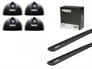 Barres Aluminium Noir Thule Suzuki Grand Vitara (toit Avec Fixations)