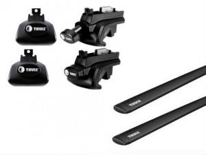 Barres Aluminium Noir Thule Suzuki Sx4 (toit Avec Barres)