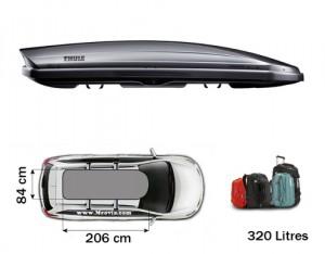 Coffre de toit Thule Dynamic 800 Titane