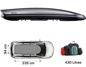 Coffre de toit Thule Dynamic 900 Titane