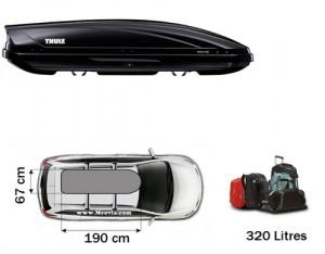 Coffre de toit motion 600 noir