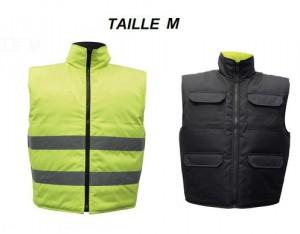 Gilet Réversible Jaune/Noir Taille M