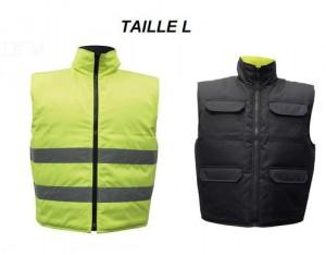 Gilet Réversible Jaune/Noir Taille L