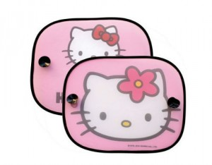 2 Rideaux Pare-Soleil Latéraux Hello Kitty