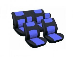 Housses auto classique bleu/noir