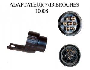 Adaptateur 7/13 Broches
