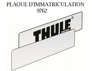 Plaque D'immatriculation Thule 9762