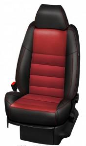 Housses Cuir Synthétique Noir-Rouge 50001v11