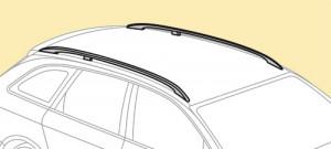 Barres de toit Kia Sorento 04/2009-02/2015 (avec barres longitudinales) Snap-Fit aluminium