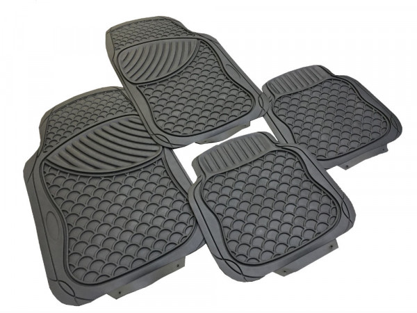 Lot de 4 tapis Vesuve noir