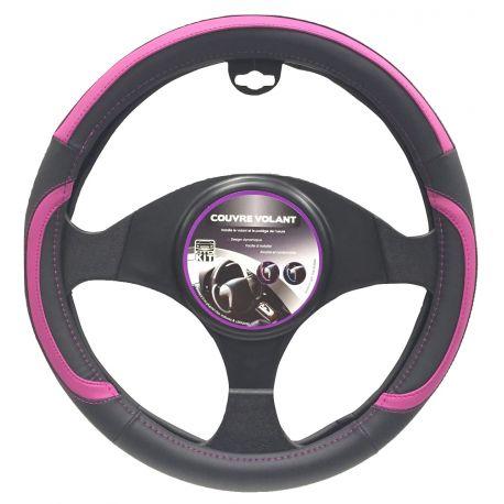 Couvre-volant noir et violet