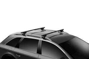 Barres de toit VW Caddy depuis 05/2015 (toit avec barres) Thule SquareBar acier