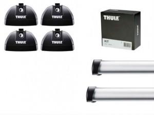 Barres de toit Bmw Série 1 Coupe Thule ProBar aluminium