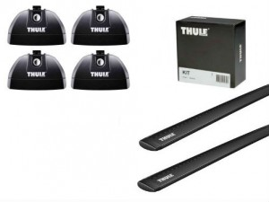 Barres Aluminium Noir Thule Ford Focus Break (2004-2011) (toit Avec Fixations)