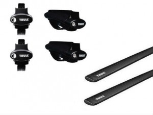 Barres Aluminium Noir Thule Jeep Patriot