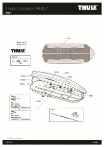 Thule 612901 Coffre de toit Thule Dynamic L gris 6129T