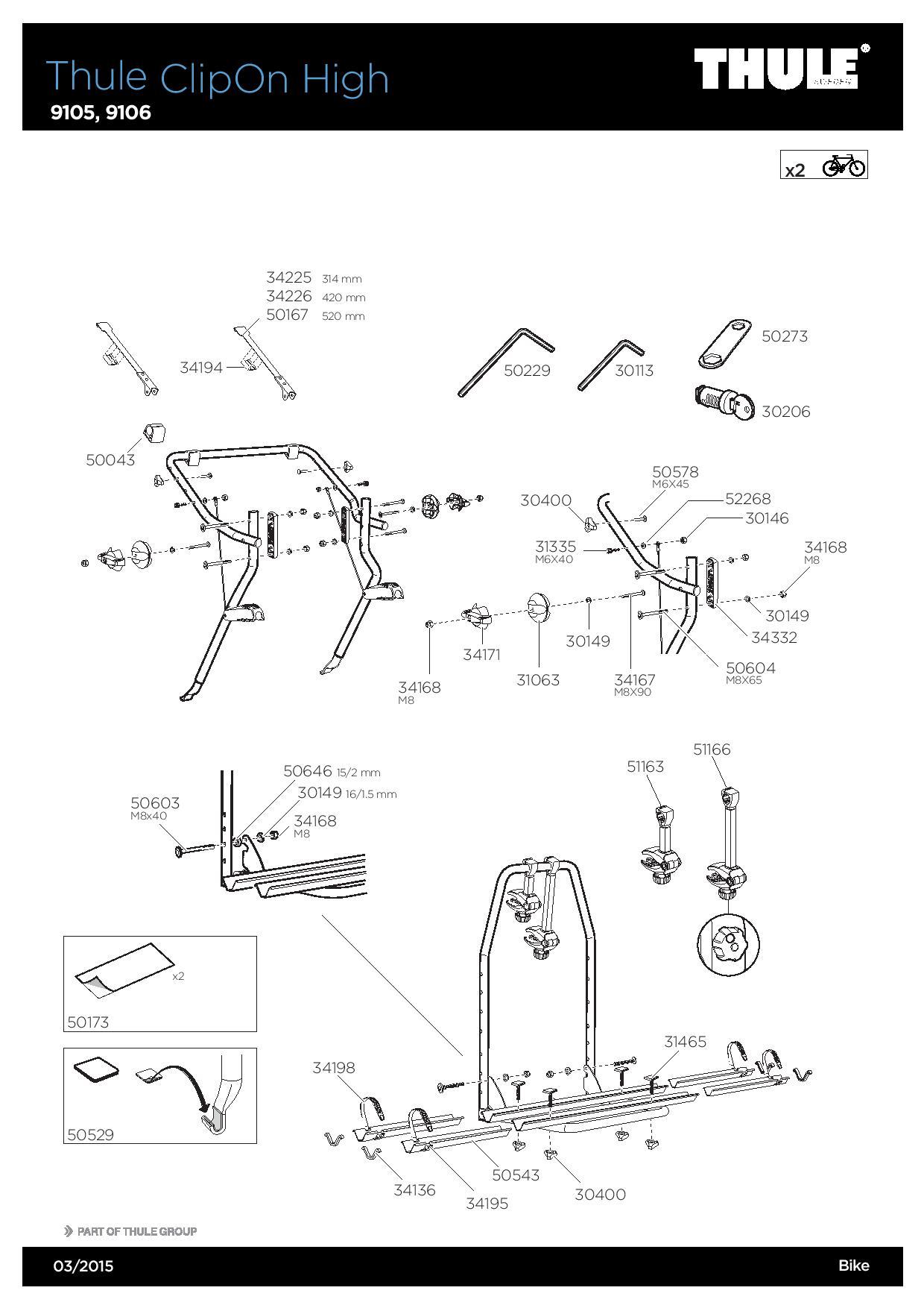 thule 9105 porte v los clipon high meovia boutique d. Black Bedroom Furniture Sets. Home Design Ideas
