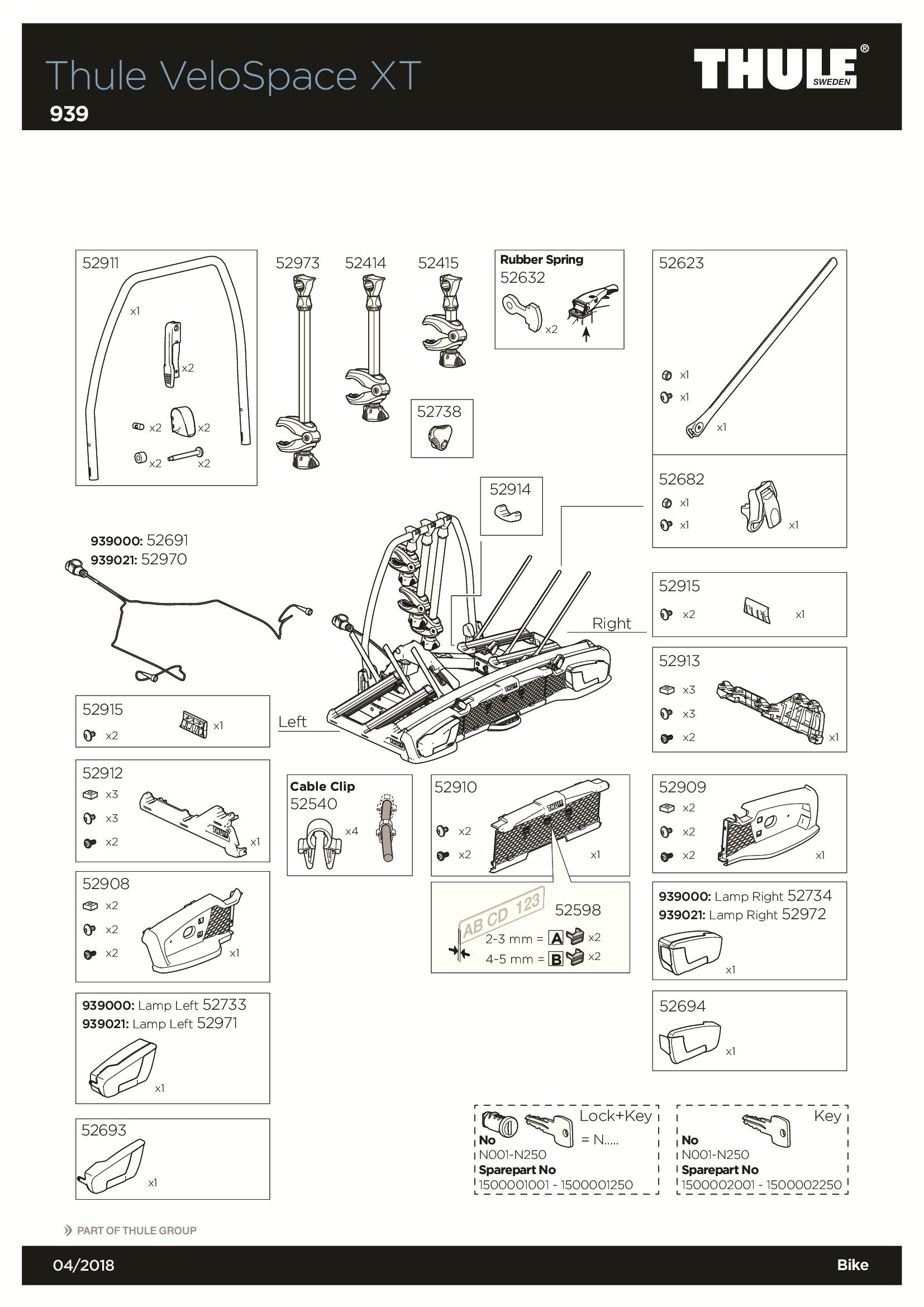 thule 939 porte 3 v los sur attelage v lospace xt 3. Black Bedroom Furniture Sets. Home Design Ideas