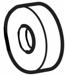 Thule 50650 Rondelle 5mm/ø22mm pour RideOn