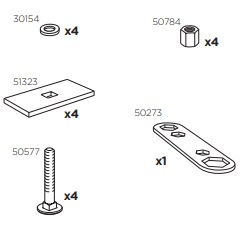 Thule 50940 Sac de montage kit 3040
