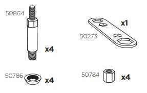 Thule 50974 Sac de montage kit 3038