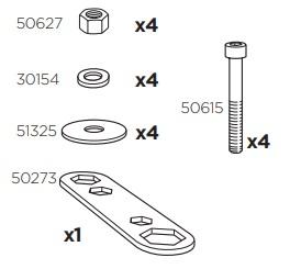 Thule 50979 Sac de montage kit 3032