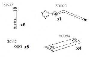 Thule 50980 Sac de montage kit 3035