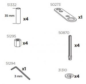 Thule 51299 Sac de montage kit 3019