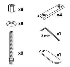 Thule 52100 Sac de montage kit 3084