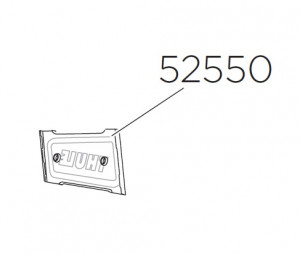 Thule 52550 Plaque logo gauche pour Canyon XT