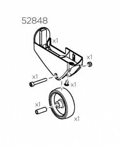 Thule 52848 Kit support roue gauche pour EasyFold XT