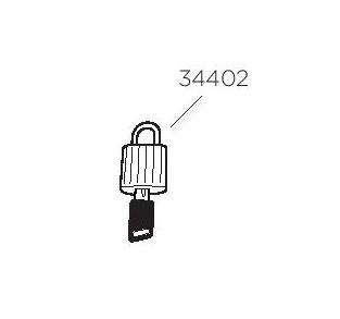 Thule 34402 Verrouillage pour Ranger