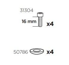 Thule 50941 Sac de montage kit 3024