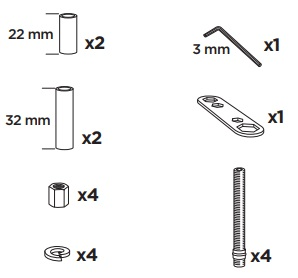 Thule 59060 Sac de montage kit 3066