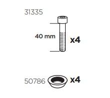 Thule 50982 Sac de montage kit 3026