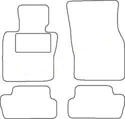 Tapis Mini 3 portes depuis 03/2014 - Aiguilleté Noir