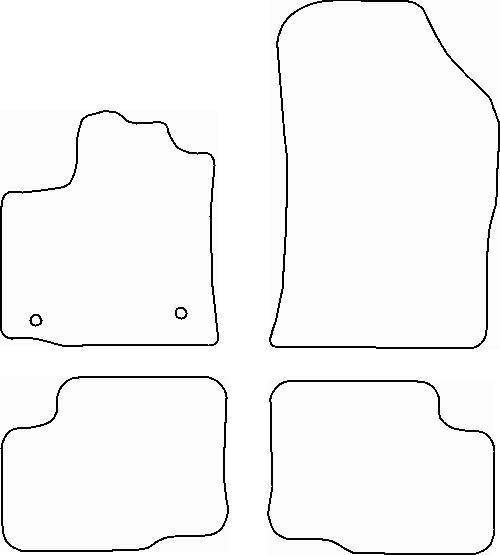 tapis dacia lodgy 2 rangees velours noir meovia boutique d 39 accessoires automobiles. Black Bedroom Furniture Sets. Home Design Ideas