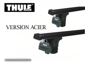 Barres Acier Thule Bmw X1 (toit Avec Barres) (2009-2015)