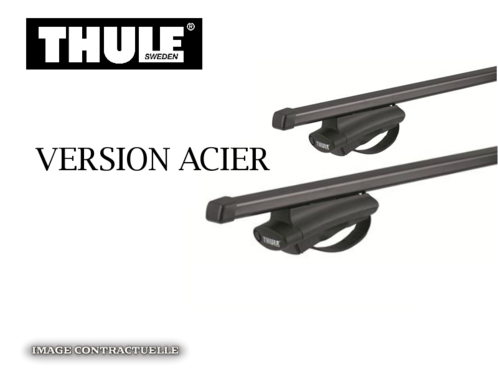 barres de toit dacia duster 2010 2013 thule squarebar acier meovia boutique d 39 accessoires. Black Bedroom Furniture Sets. Home Design Ideas