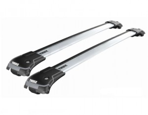 Barres de toit Mercedes Classe C Break (2001-2006) Thule WingBar Edge aluminium