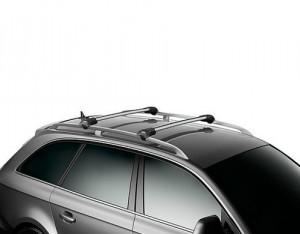 Barres de toit Nissan Qashqai (2014-) Thule WingBar Edge aluminium