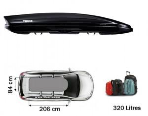 Coffre de toit Thule Dynamic 800 Noir