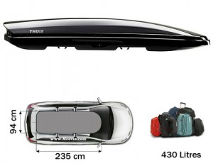 Coffre de toit Thule Dynamic 900 Noir