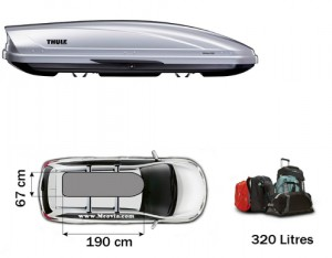 Coffre de toit Thule Motion 600 Gris