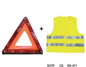Kit De Sécurité Triangle + Gilet Ce
