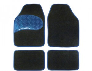 4 Tapis Moquette Sportivo Bleu